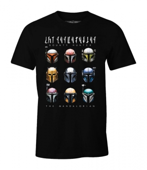 Star Wars The Mandalorian T-Shirt Bounty Hunter Helmets