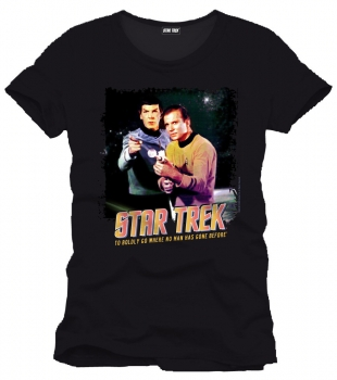 "T-Shirt: ""To boldly go"""